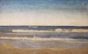 Niels Skovgaard (1858-1938)  'Heavy swells at the West coast of Jutland' (1894)