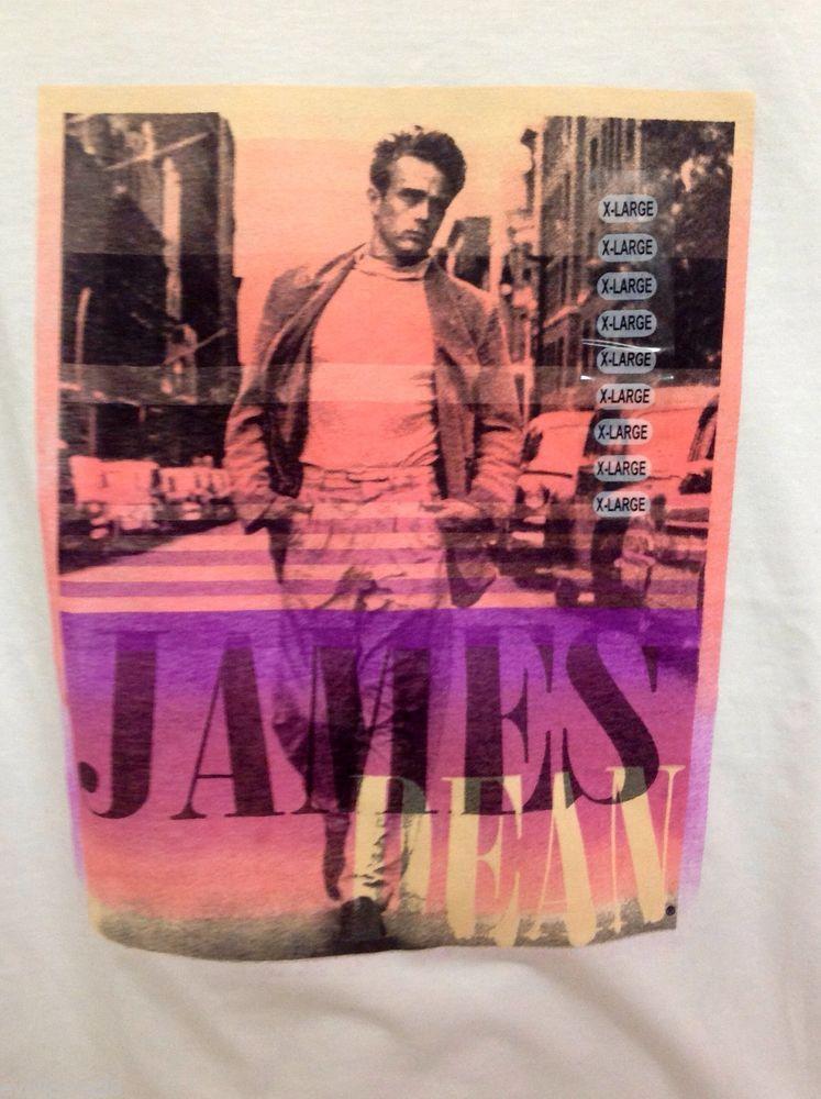 NWOT Ladies JAMES DEAN NEW YORK WHITE GRAPHIC Tee Shirt RARE HARD TO FIND XL