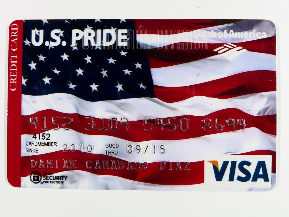 Bank Of America US Pride Flag Credit Card Expired Visa Credit - credit card payoff calculator