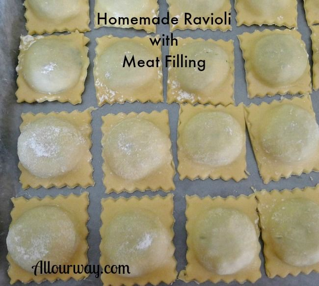 Homemade Italian Ravioli With Meat Cheese Filling Recipe