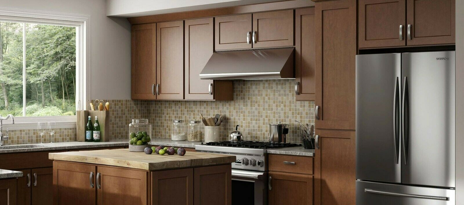 All Wood Rta 10x10 Luxor Cinnamon Brown Kitchen Cabinets Finger Grip Door Kitchen Cabinets Ide In 2020 Cheap Kitchen Cabinets Brown Kitchen Cabinets Brown Kitchens