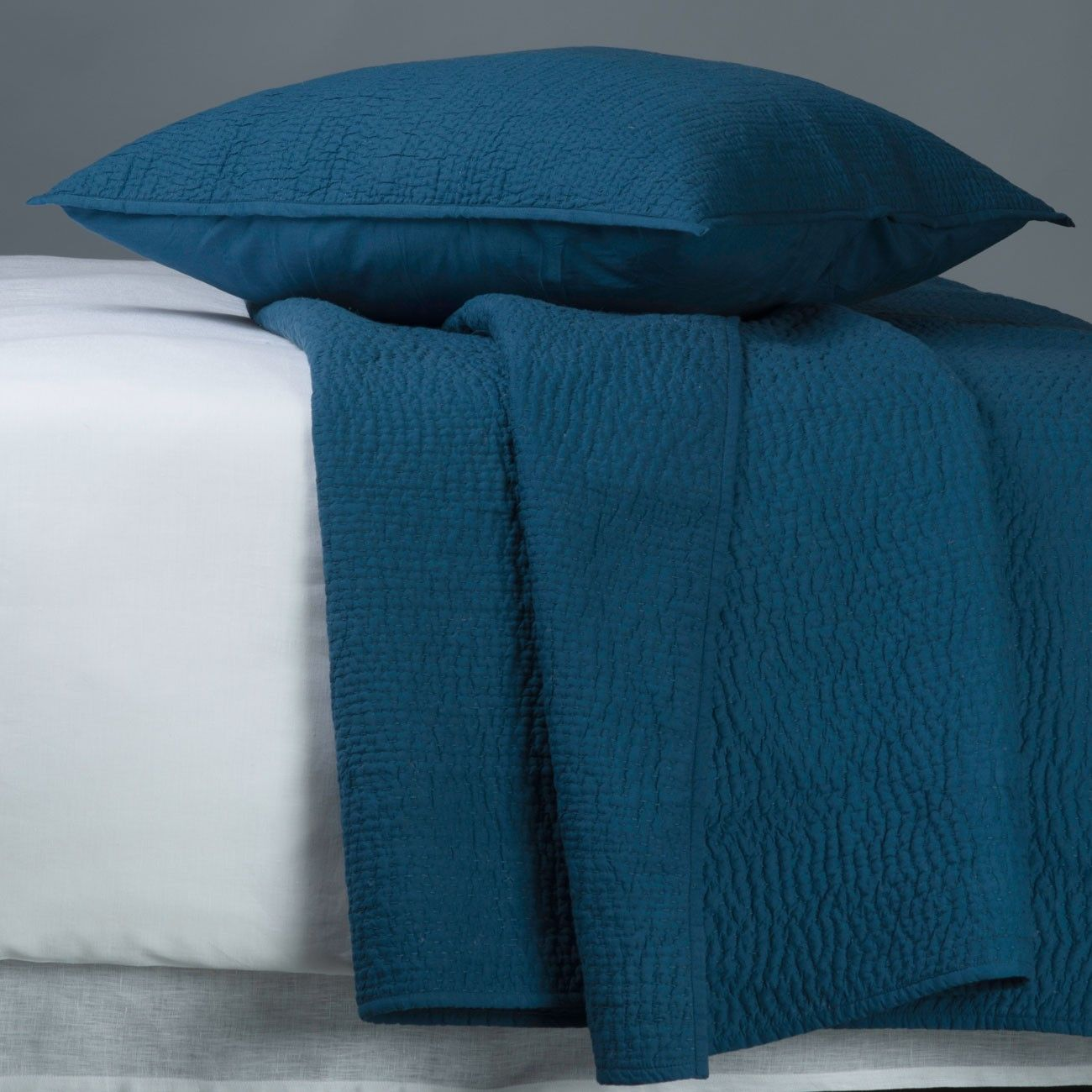 Turquoise cotton bedspread