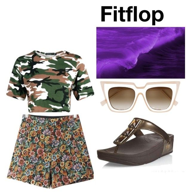 """""""Womens Fitflop Pietra Toning Bronze Sandals"""" by chrissybarby ❤ liked on Polyvore featuring Chicnova Fashion and self-portrait"""