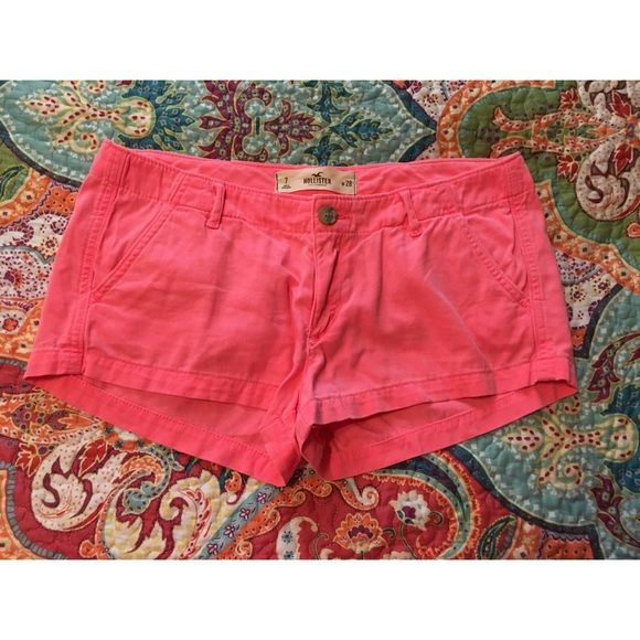 hollister shorts •these are almost brand new! only worn once •excellent condition •very soft & comfortable •coral pink color   don't like the price? please make me an offer! Hollister Shorts