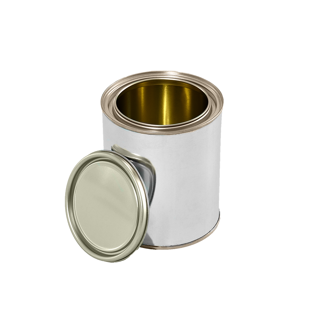 Illing Part 1104ag 1 Quart Gold Lined Tin Can W Plug Box Pack Paint Cans Are Available In Lined Or Unlined With A Comp Metal Containers Tin Can Gold Line