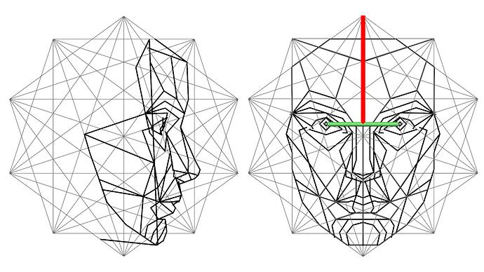 Hdr Female Phi Proportions Artwork Works In Progress Blender Artists Community Geometric Face Golden Ratio Human Face
