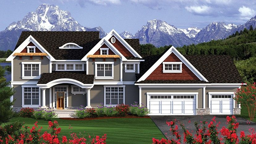 Home plan homepw77032 3660 square foot 5 bedroom 3 for Home plan com