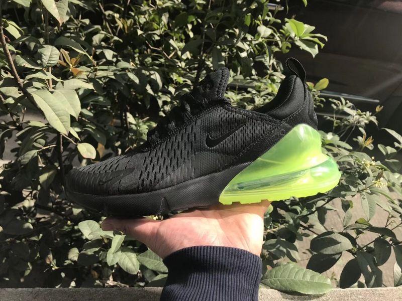 96190d58225b Authentic 2018 Men Nike Air Max 270 Flyknit Black Green AH8050 030 ...