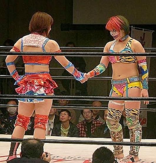wrestling Japanese busty
