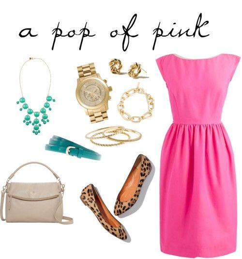 There isn't anything a little pink dress can't do!