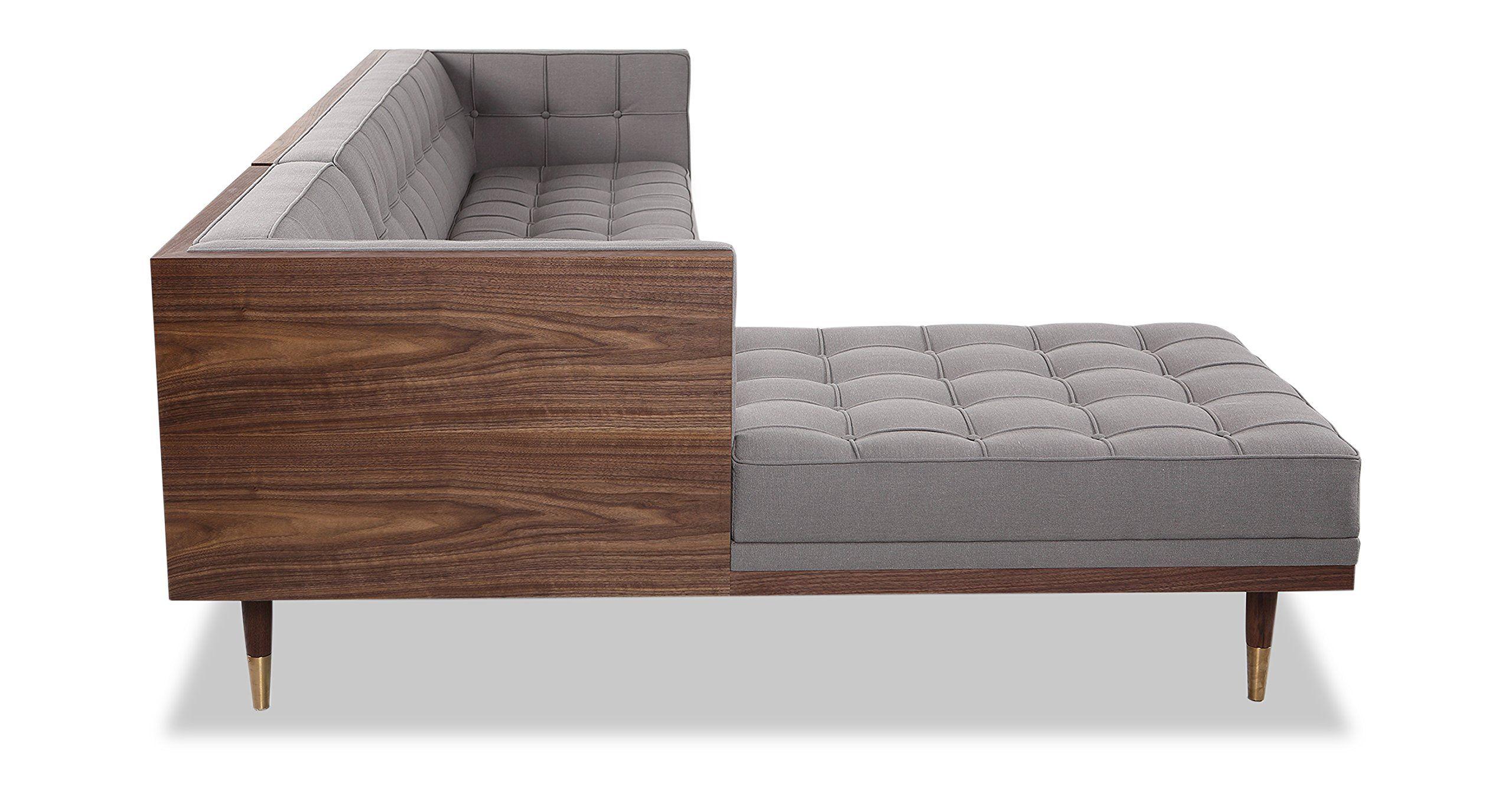 Swell Kardiel Woodrow Midcentury Modern Box Sofa Sectional Left Cjindustries Chair Design For Home Cjindustriesco