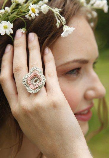 Blüten-Ring   Blüten, Ringe und Selbermachen