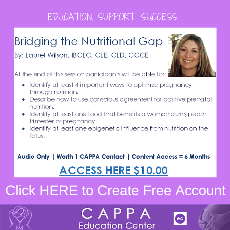 CAPPA's 'Bridging The Nutritional Gap' Contact Hour