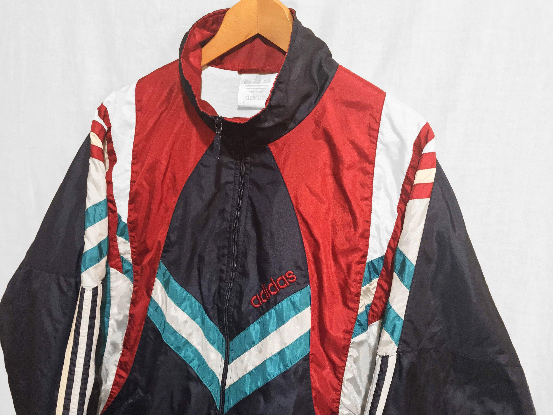 Ultra Rare Vintage Adidas Windbreaker Jacket Multicolor Etsy Adidas Windbreaker Vintage Adidas Windbreaker Jacket [ 2250 x 3000 Pixel ]