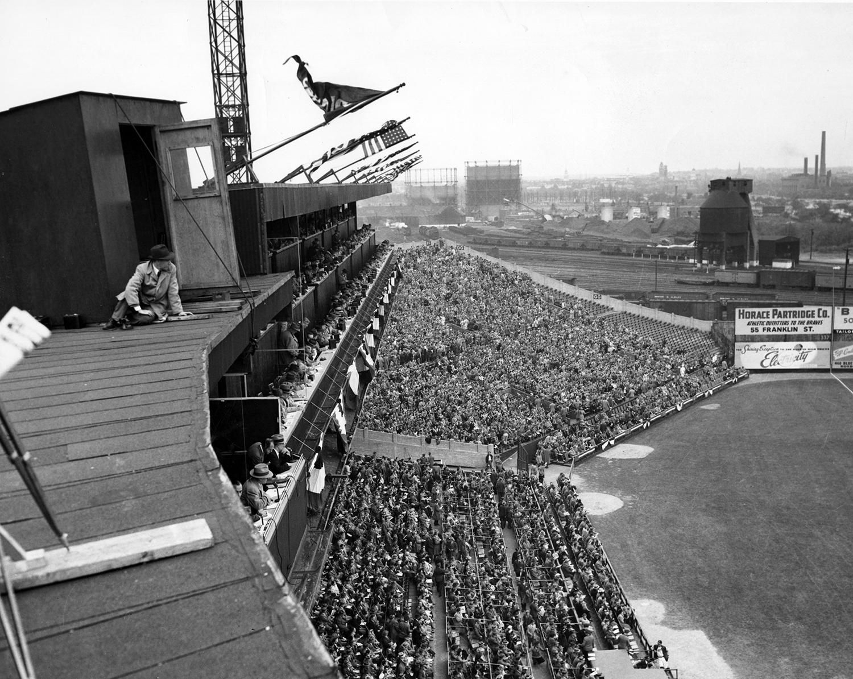 Up On The Roof Baseball Park Braves Field Boston Major League Baseball Stadiums