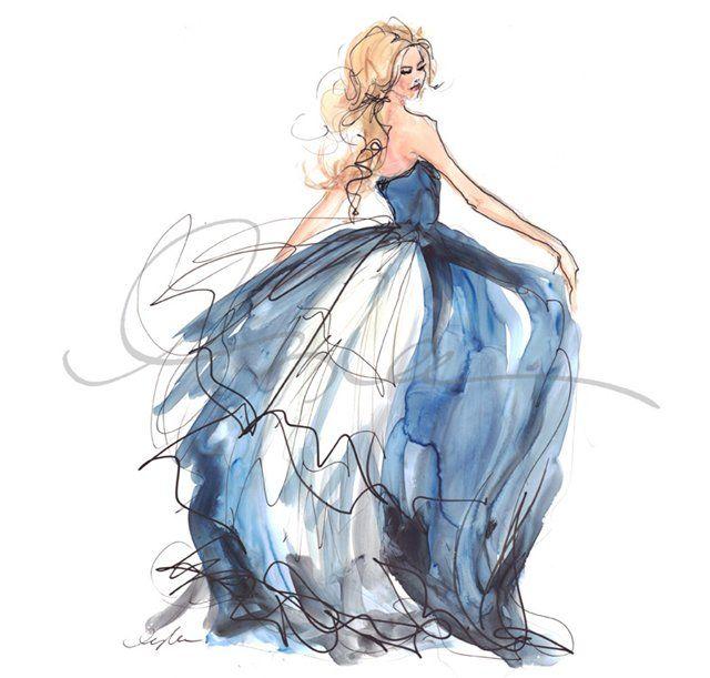 Зарисовки платьев картинки