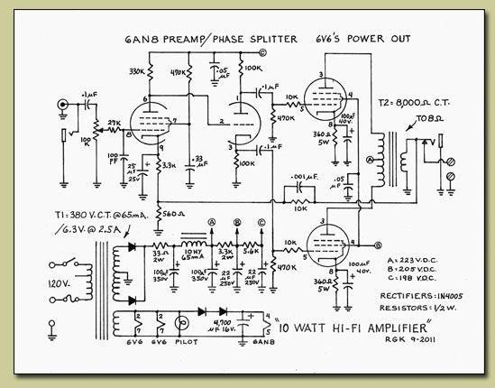 10 watt vacuum tube amplifier audio diy vacuum tube. Black Bedroom Furniture Sets. Home Design Ideas