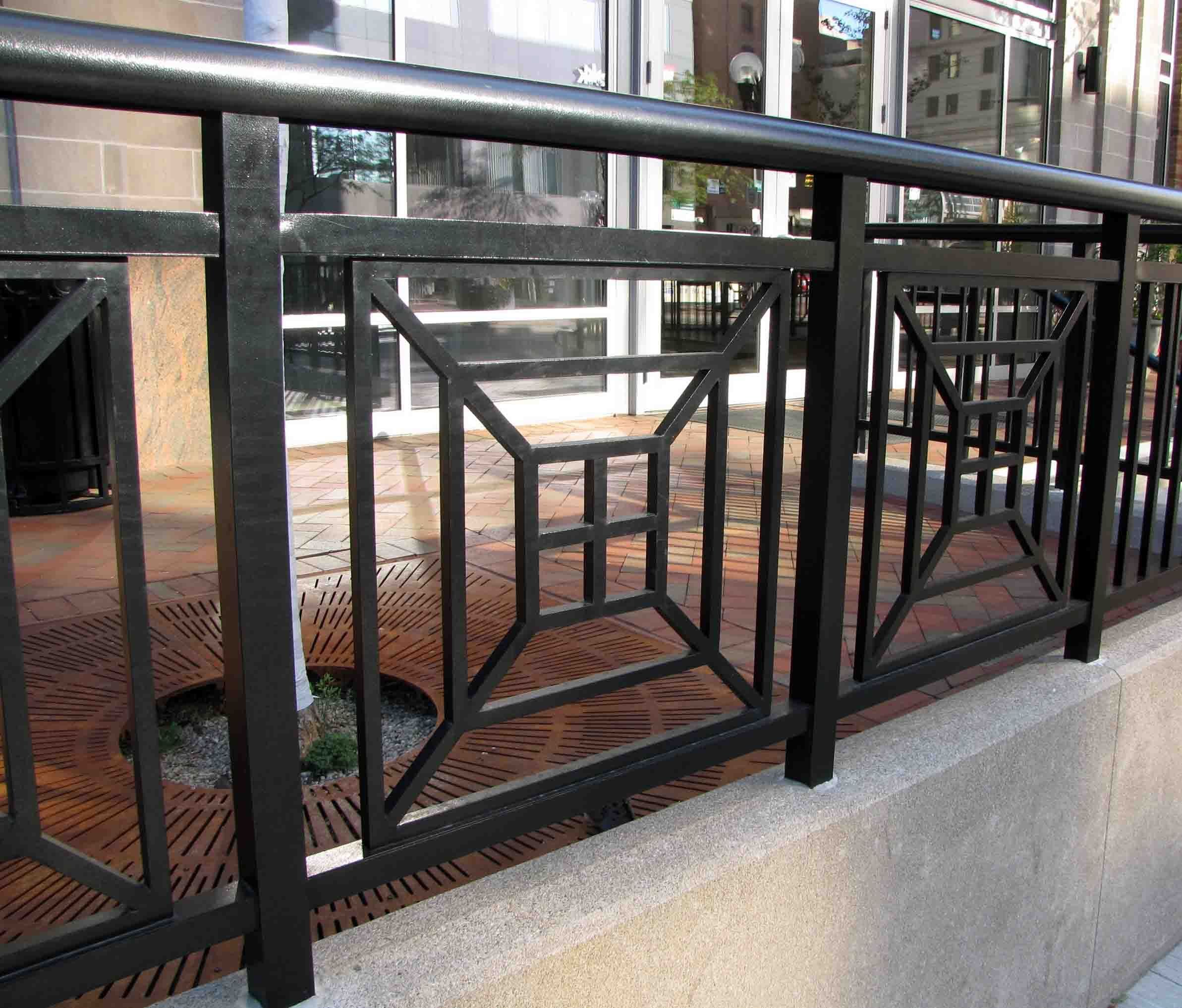 Photos Of Railing For Outside Steps | Exterior Steel Rails Exterior Steel  Rail With Cable Guard. Metal Stair RailingOutdoor RailingsIron ...