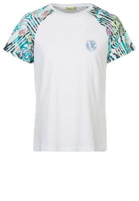 Versace Jeans T Shirts Med Print Hvit Zalando No Salg Hvit