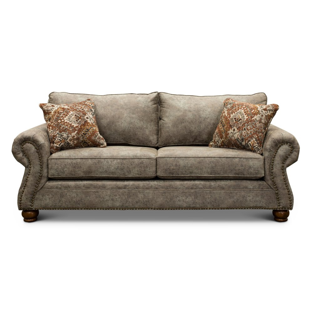 Casual Traditional Graphite Brown Sofa Bed Tahoe In 2020 Sofa