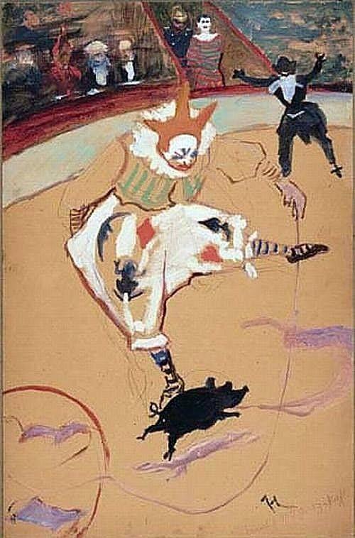 Les Clowns Médrano et Chocolat Henri de Toulouse-Lautrec