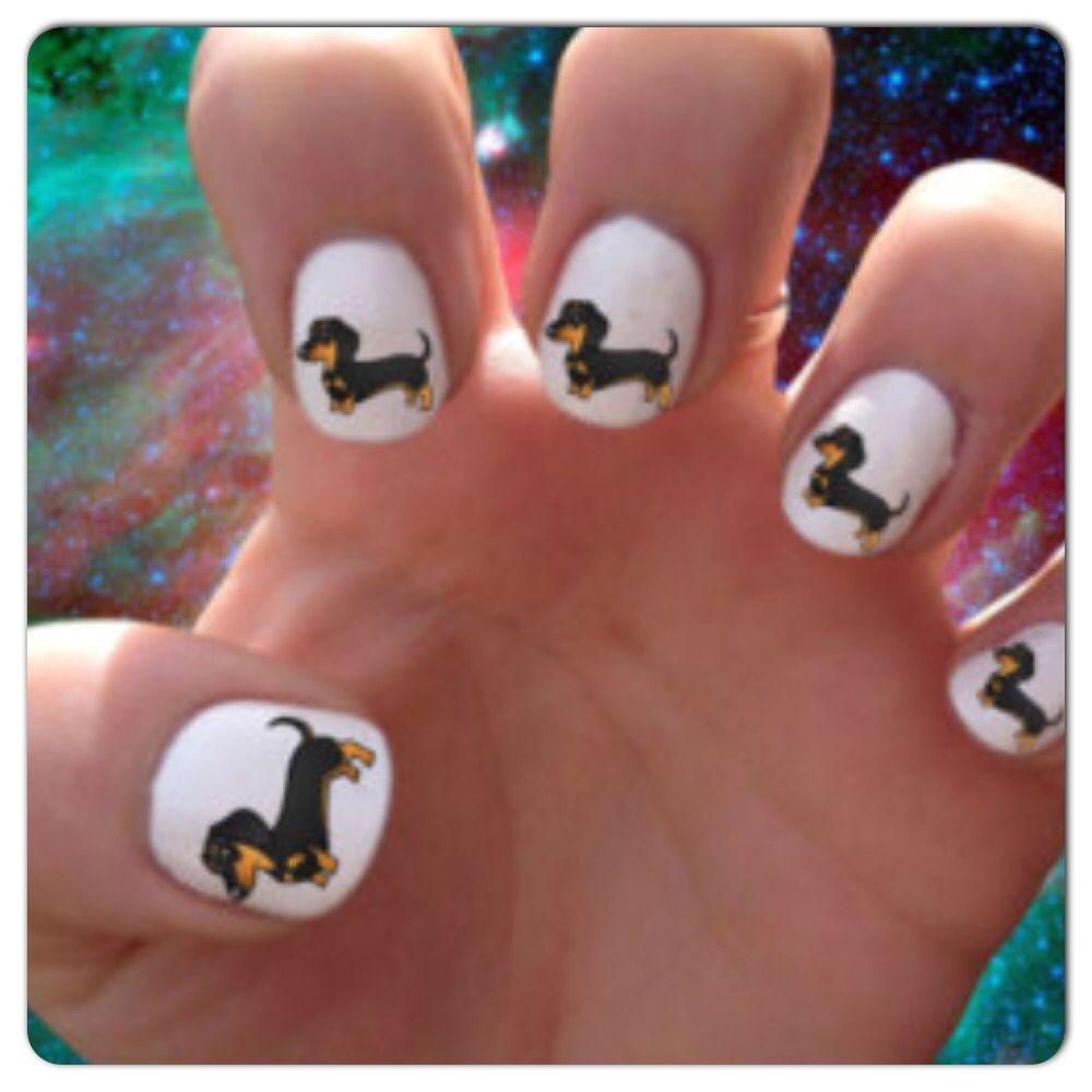 Dachshunds Nail Designs Dog Nail Art Dog Nails Nail Art