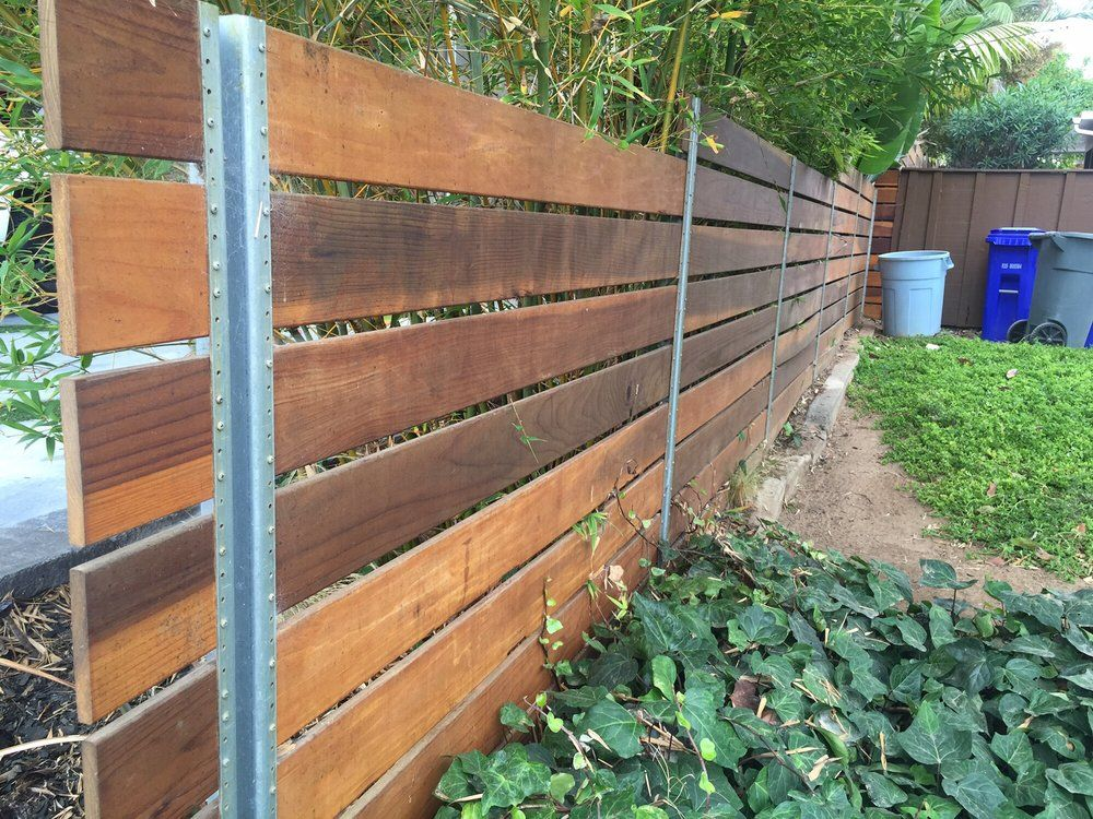 Back view of the fence we used steel posts yelp