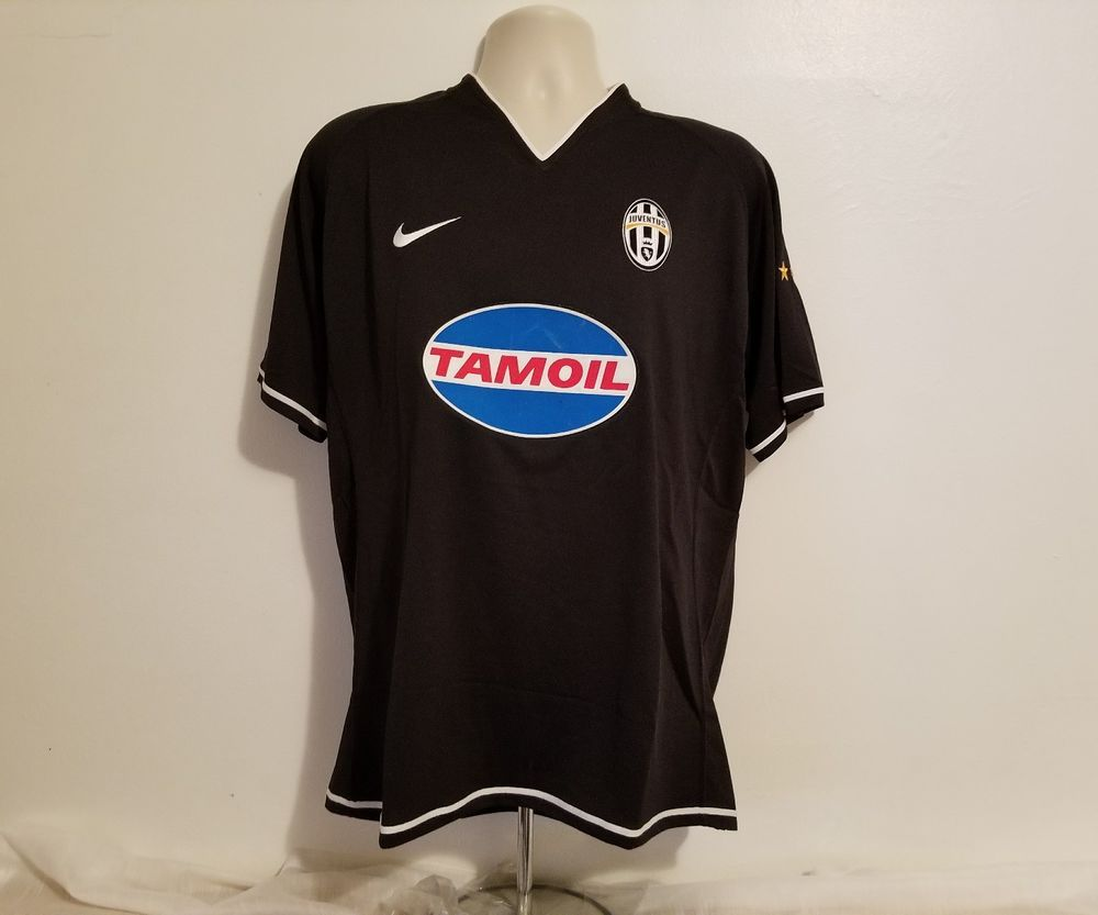 04dd89b97c2 2006 07 Pavel NEDVED  11 Juventus Away Adult Large Black Football Jersey   Juventus