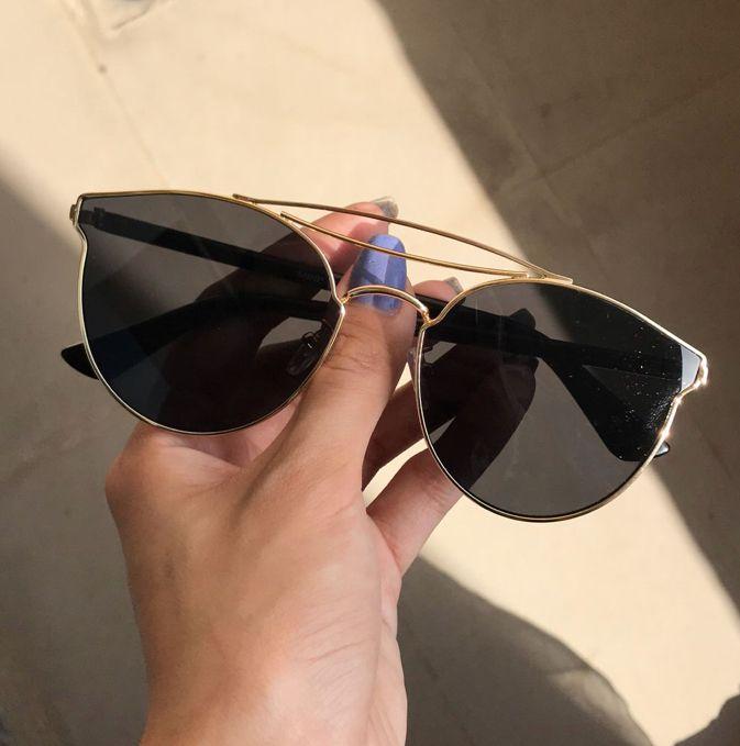 d3a97e3f7a7 Black flat sunglasses - Miniso