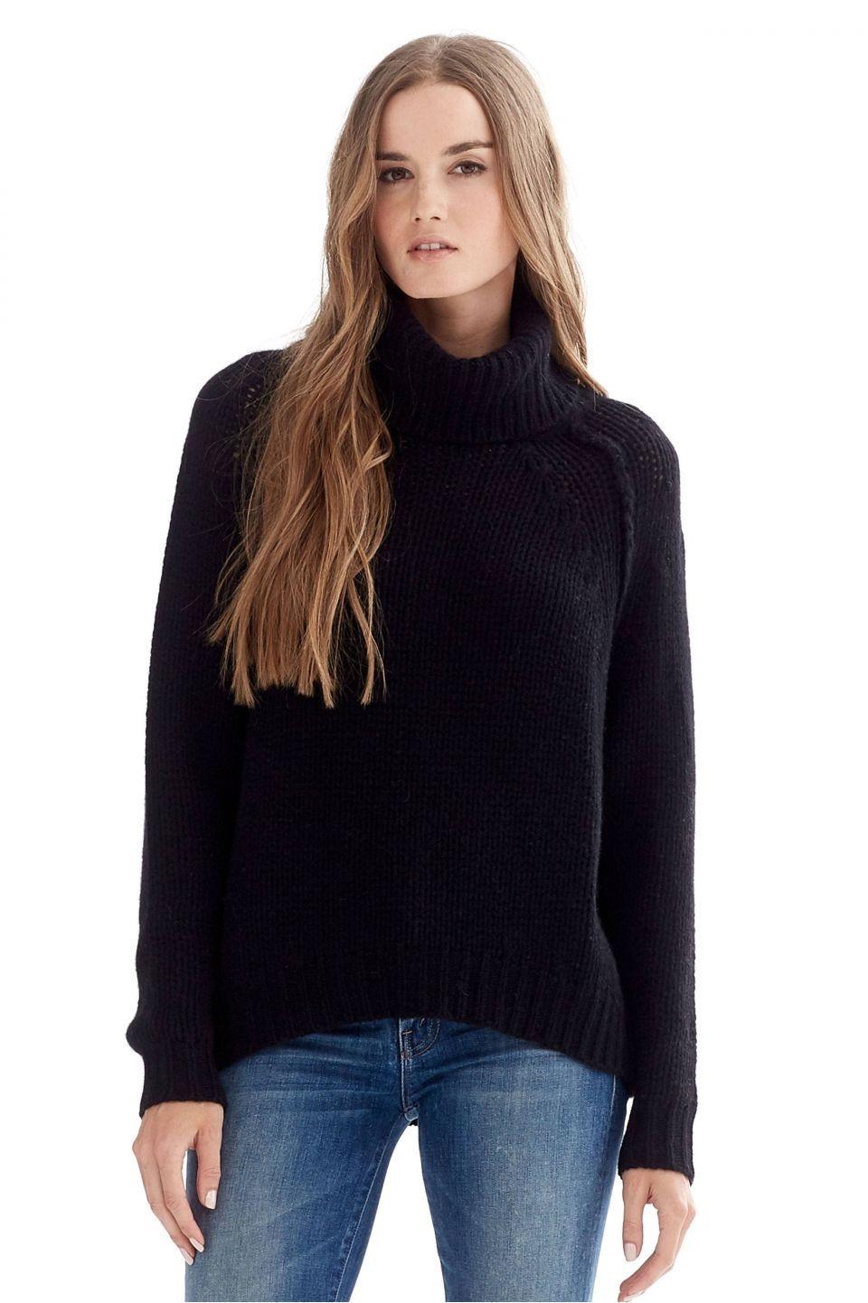 Women's Bella Black Turtleneck Sweater | Lust list | Pinterest