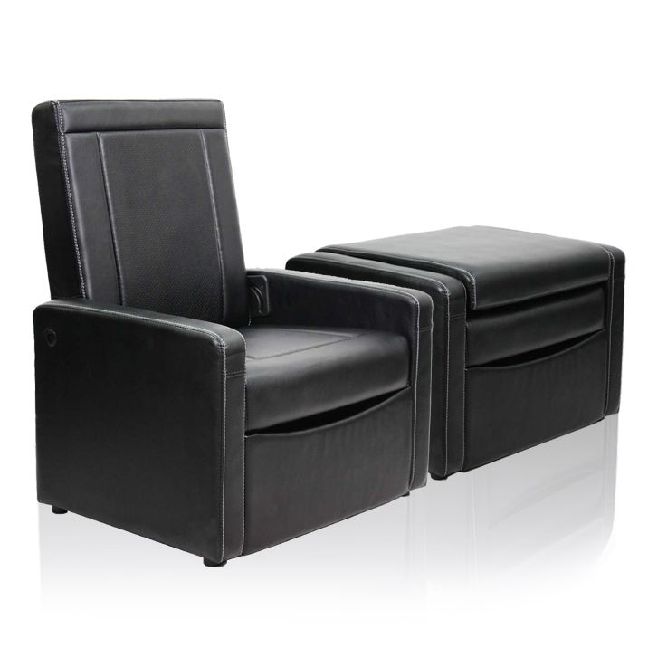 GAMING CHAIR/OTTOMAN- Available at Walmart Ottoman folds out to a gaming chair  Storage - Serta At Home Entertainment Ottoman / Gaming Chair Leather
