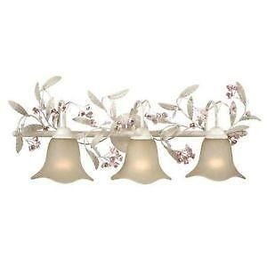Floral Silver Bathroom Lighting Fixture Lighting Pinterest - Bathroom light fixtures silver
