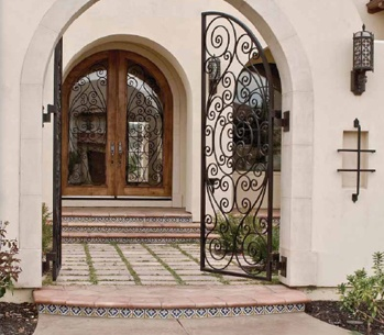 Beautiful Caoba Door entrance.