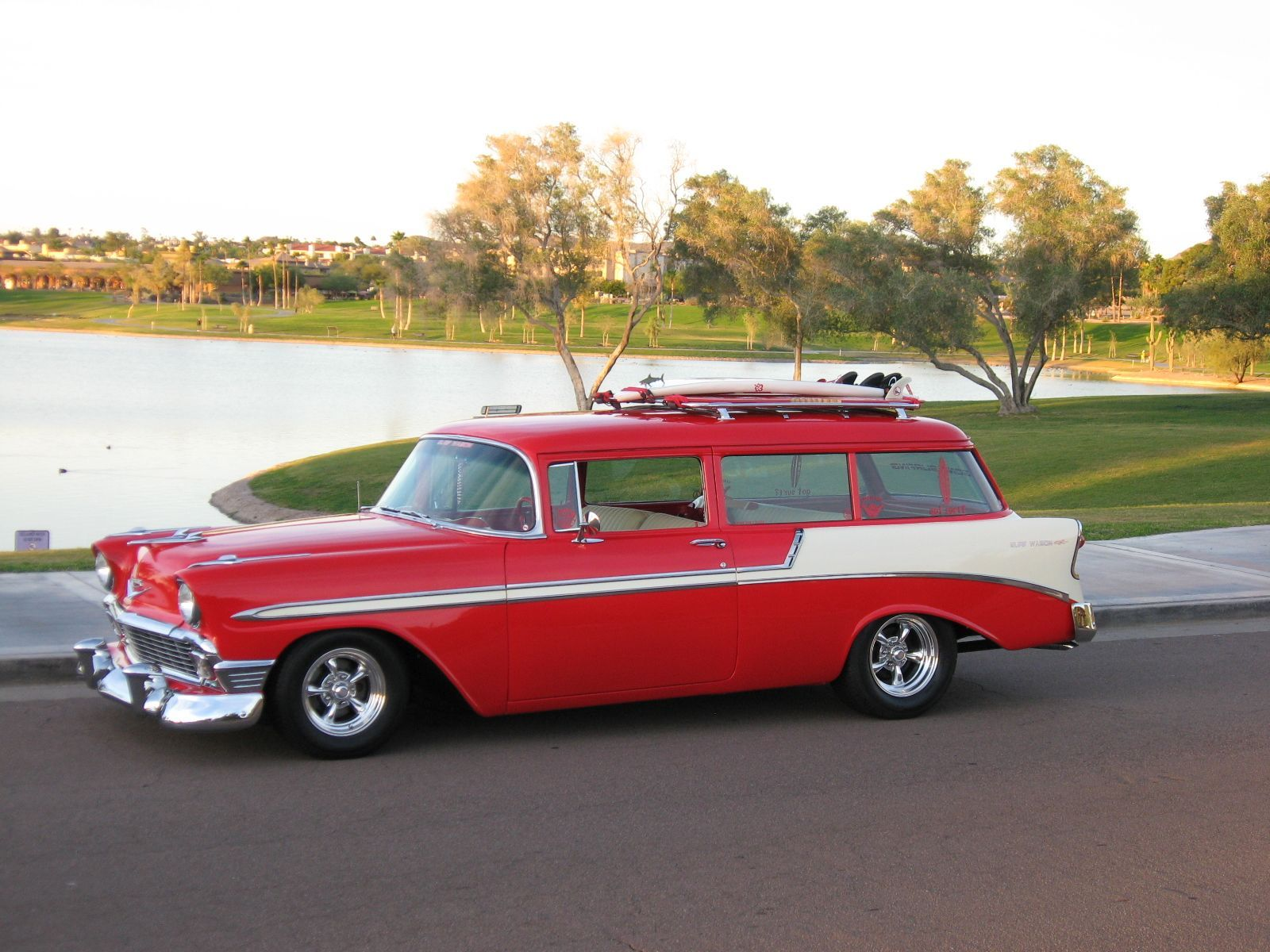 383ci stroker crate engine small block gm style longblock blueprint engines customer gary waugh has this beautiful summer ready 1956 chevy surf wagon installed under the hood is our very own bp3834ct1 malvernweather Choice Image