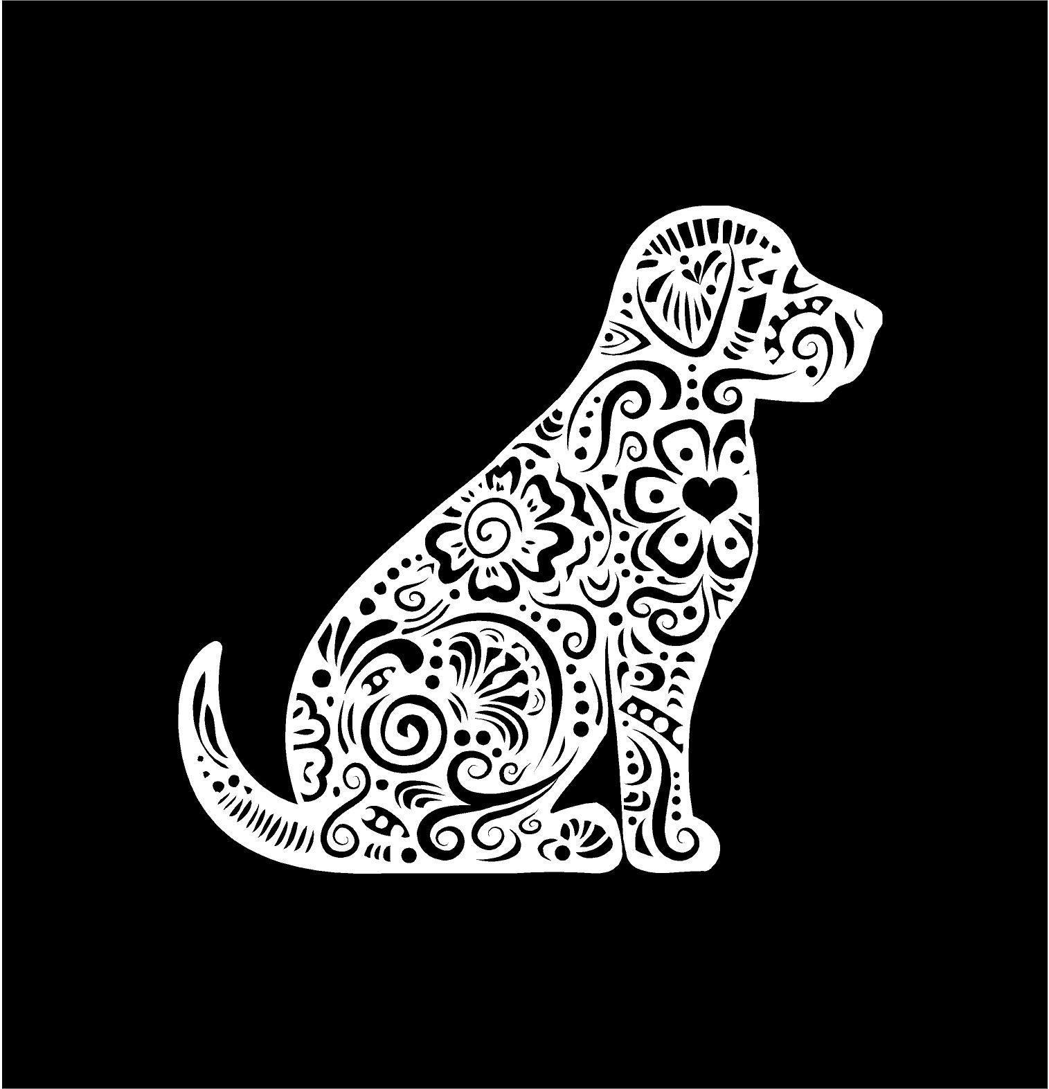 Car Window Sticker Golden Retriever Dog Decal Sign Labrador on Board V11