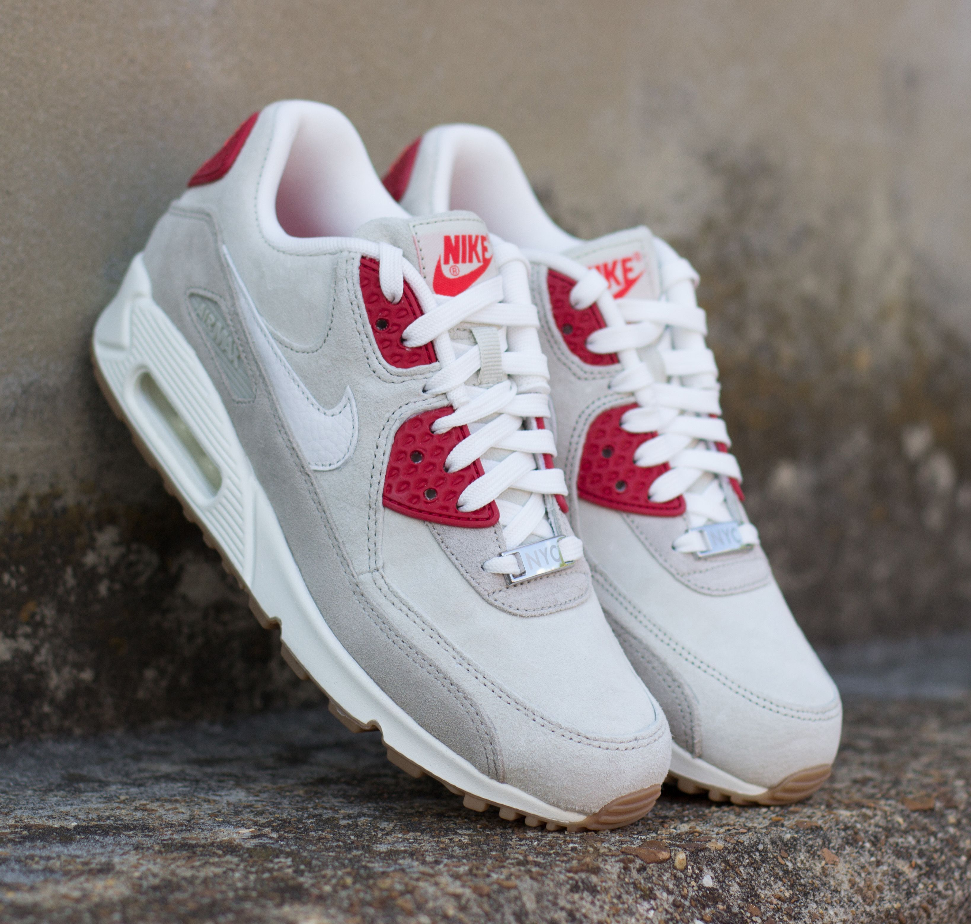 The Women S Nike Air Max 90 New York Strawberry Cheesecake Is Out And Available Now On Citygear Com Nike Outfits With Converse Nike Air Max 90