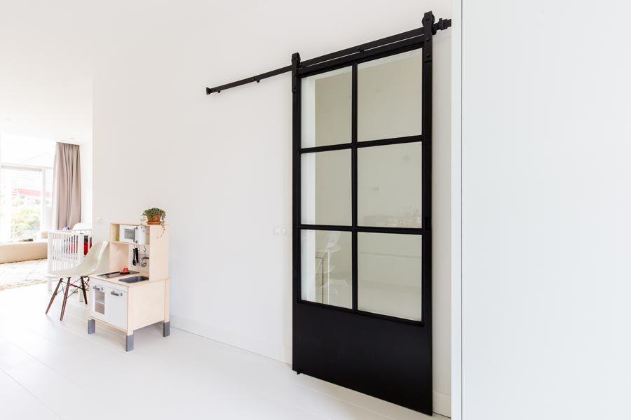 Onze stalen schuifdeur | Doors, Living rooms and Interiors