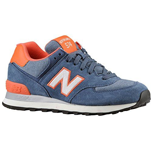 New Balance 574 - Women\u0027s - Navy/Orange