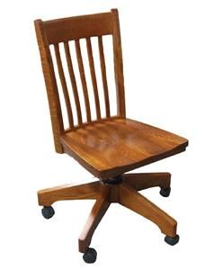 Amish Hardwood Secretary Desk Chair Amish Desk Chairs 46411 Wood Desk Chair Wooden Office Chair Furniture
