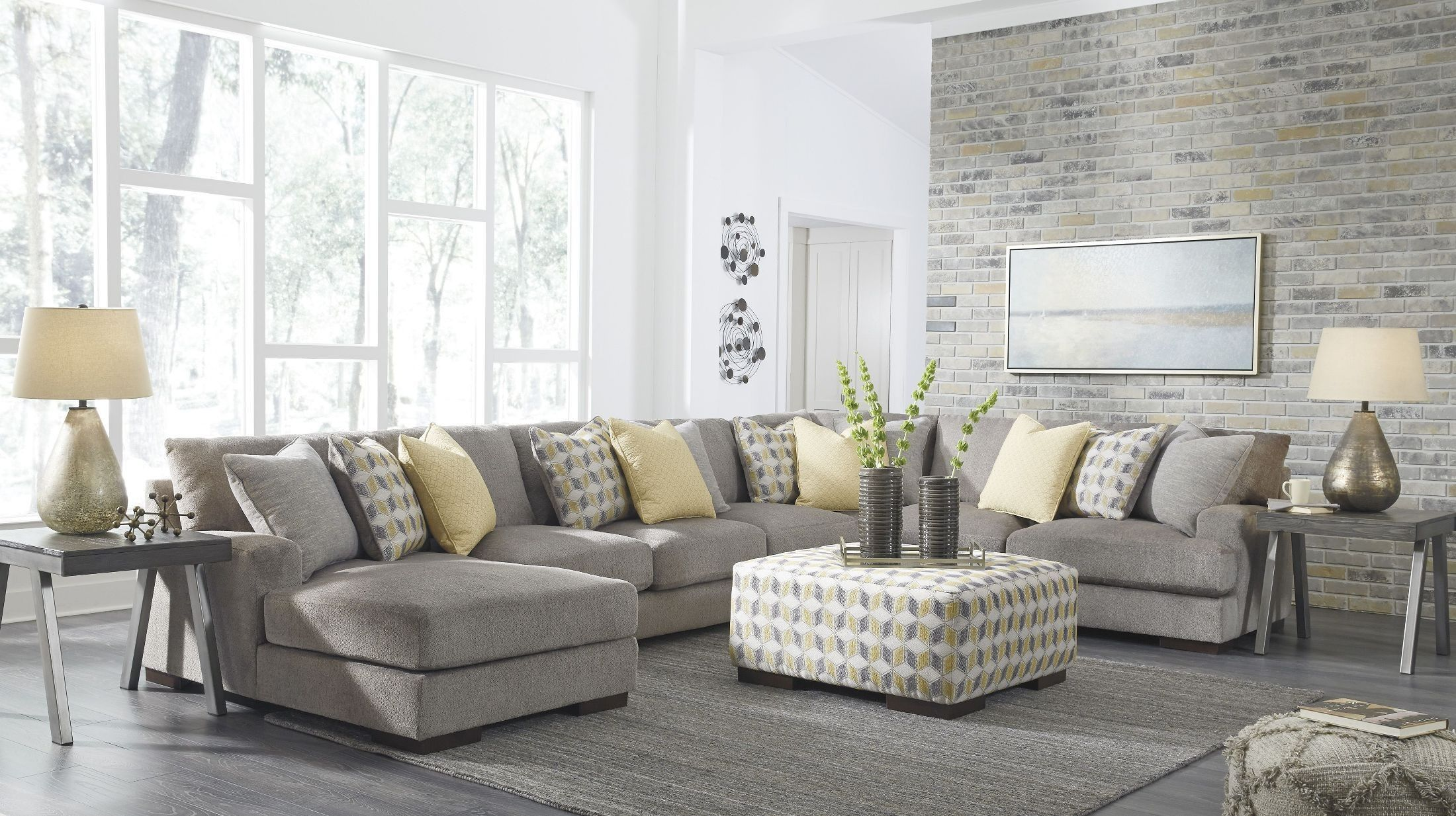Fallsworth Smoke LAF Large Sectional | lyndsey | Pinterest | Large ...