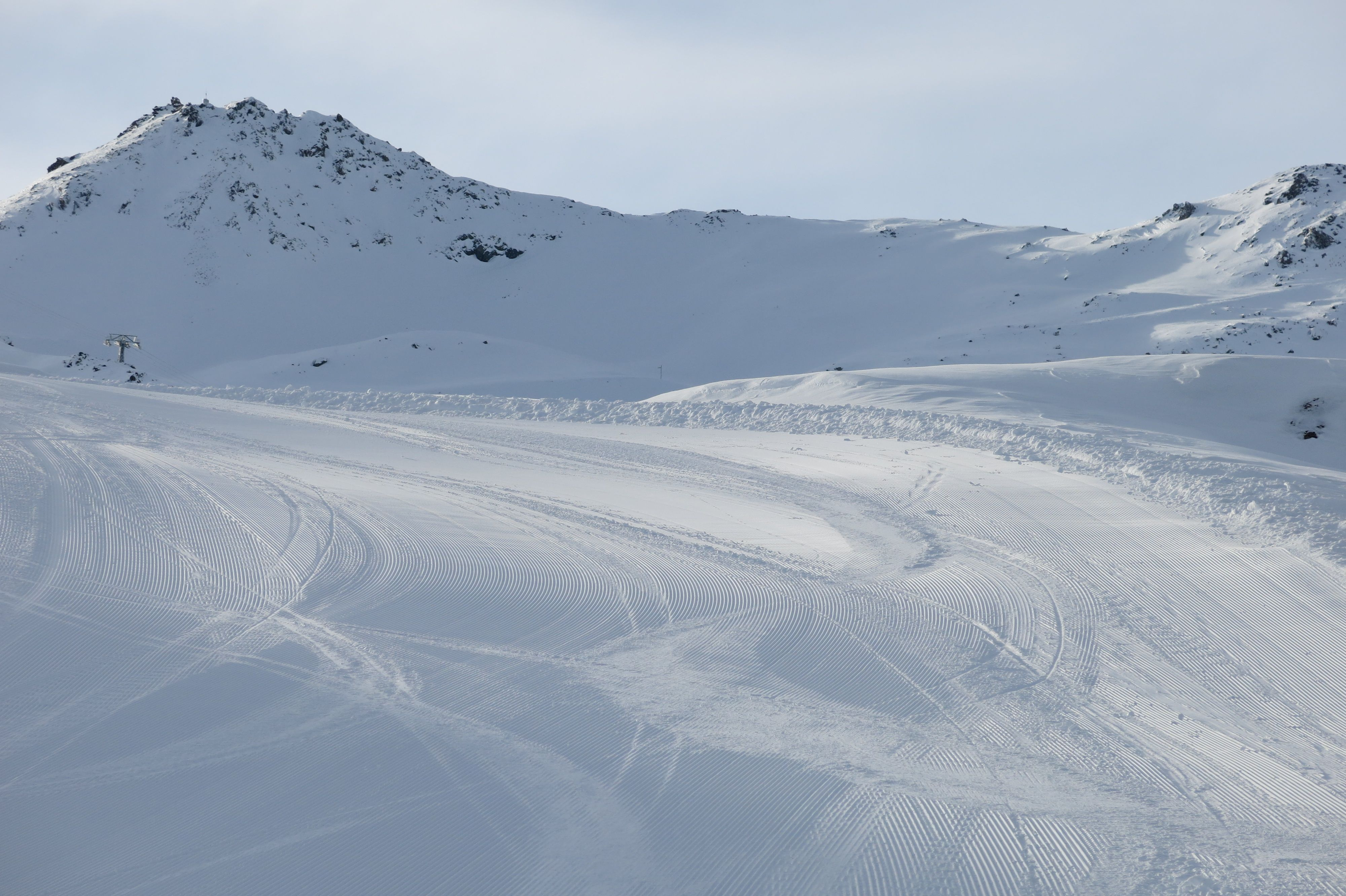 Immaculate ski slopes in Val Thorens