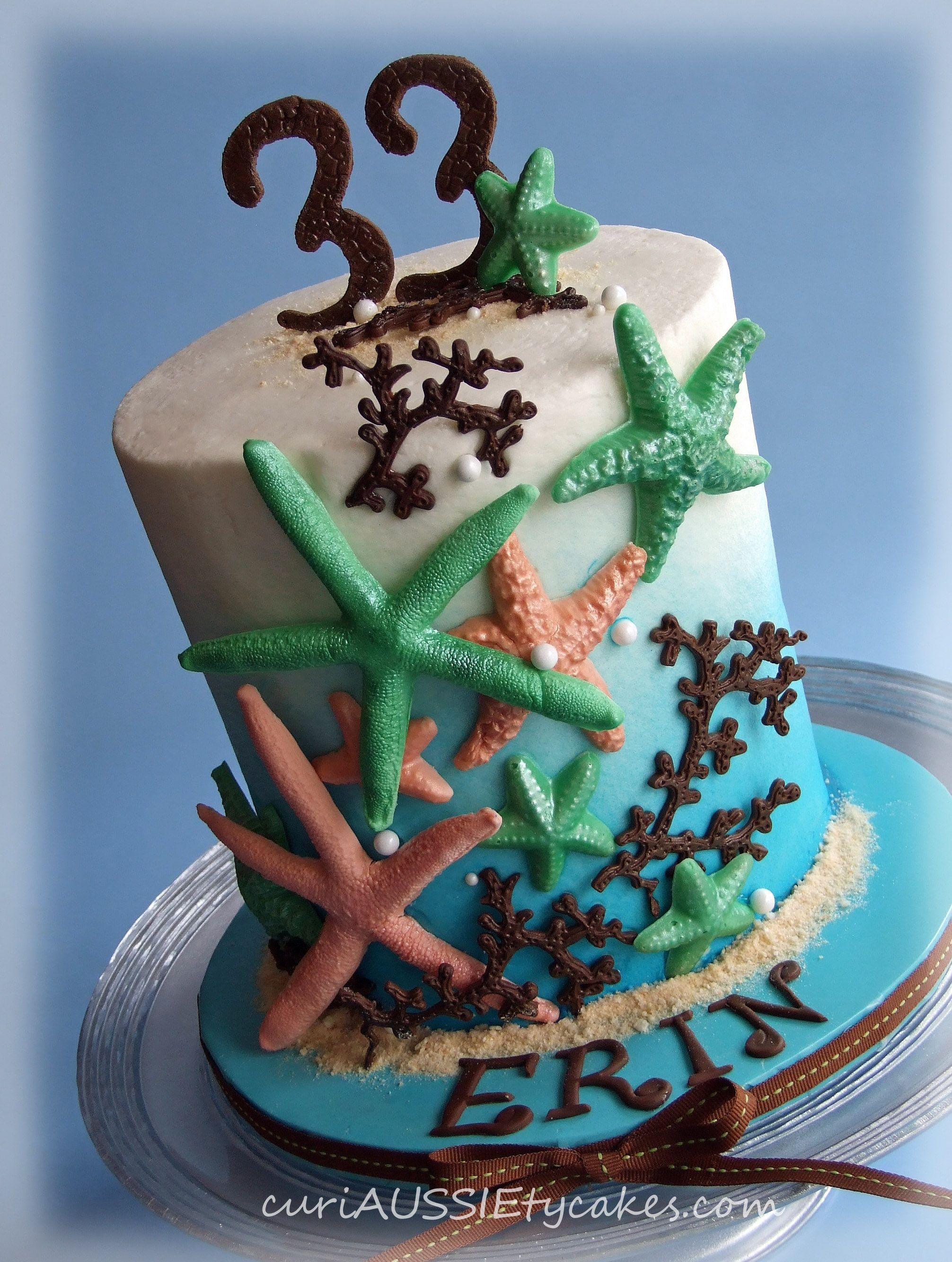 Surprising Starfish Birthday Cake Cake Starfish Cake Sea Cakes Personalised Birthday Cards Akebfashionlily Jamesorg