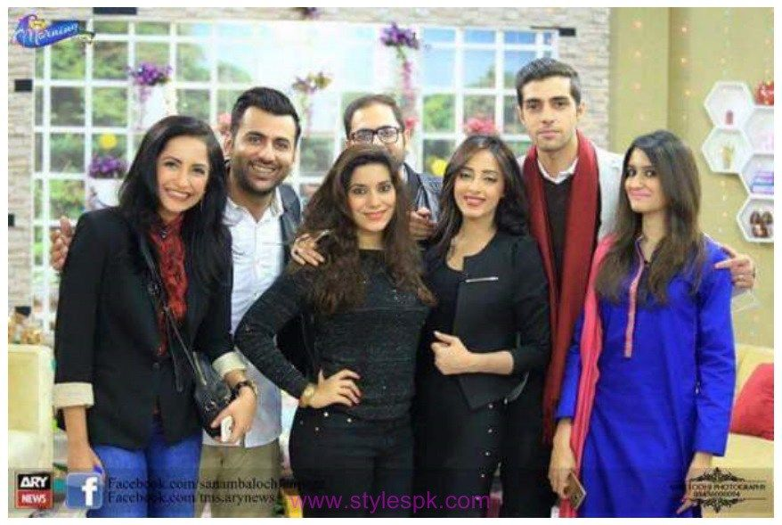 Sanam Chaudhry and Furqan Qureshi Getting Photos   showbiz