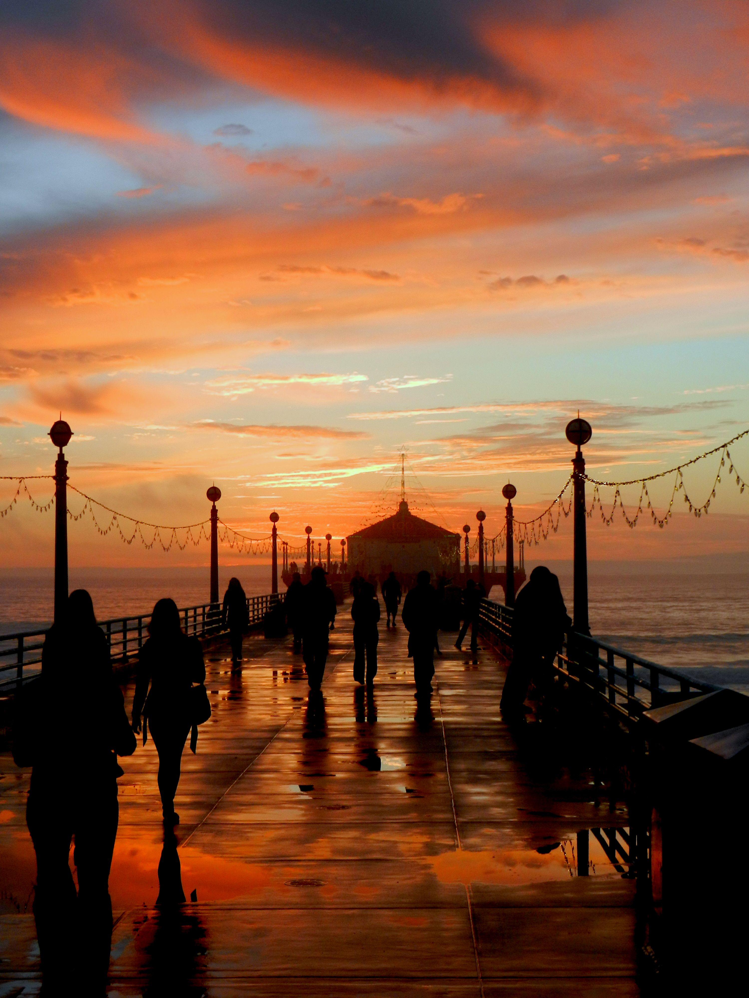 Gorgeous Sunset At The Manhattan Beach Pier. Why Do We