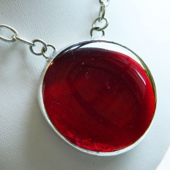 Gorgeous Red Christmas Jewel necklace will bring the Holly Jolly to