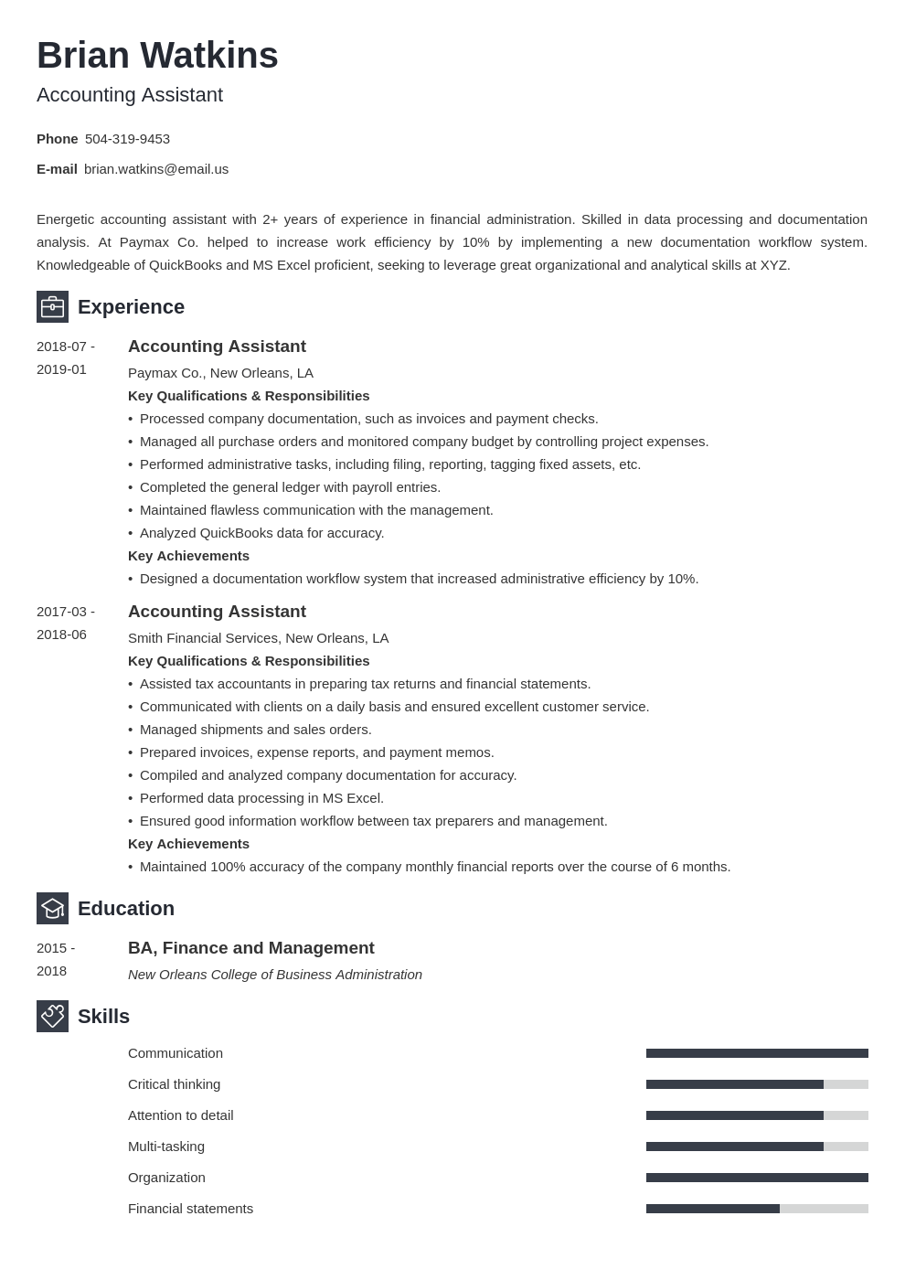 accounting assistant resume example template newcast in