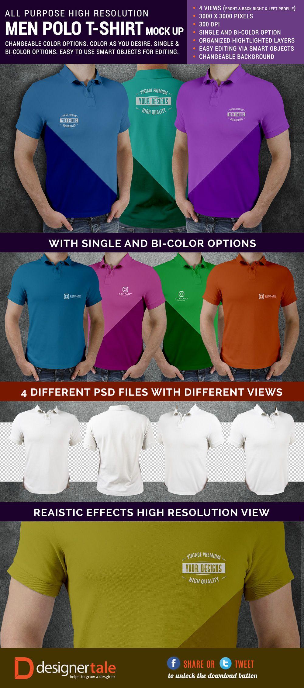 Download 100 T Shirt Templates Vectors Psd Mockups Free Downloads Polo T Shirts Shirt Template Shirt Mockup