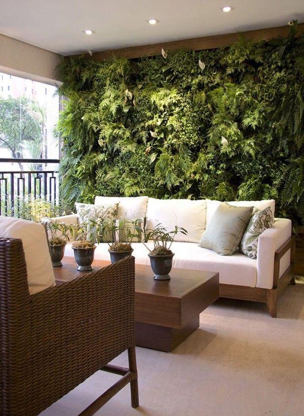 7 ideias de paredes verdes na decor fashionismo balkon for Innenausstattung wohnzimmer