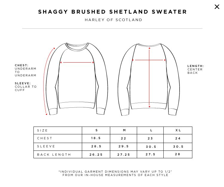 UNIONMADE - Harley of Scotland Size Chart