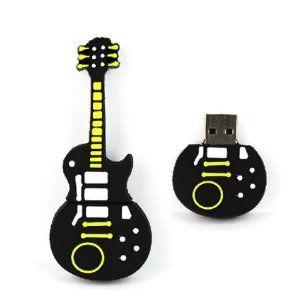 yoousb 16gb novelty cool yellow black guitar usb flash key pen drive memory stick gift uk. Black Bedroom Furniture Sets. Home Design Ideas